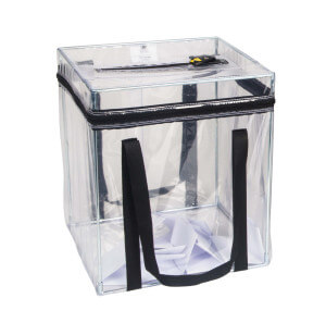Sealed bags and ballot boxes
