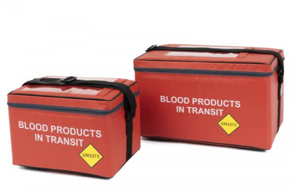 Blood in transit blood bags