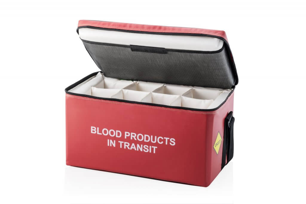 Blood in transit bag