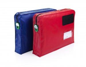 Posttasche mit Seitenfalte
